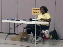 Lonely poll worker