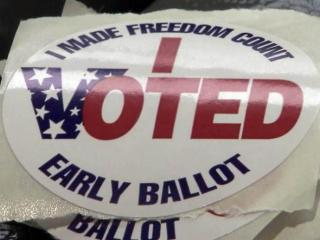 Early voting sticker