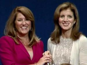 Elizabeth Redenbaugh with Caroline Kennedy