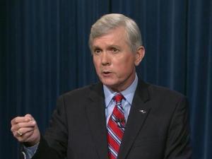 Walter Dalton makes a point during the North Carolina gubernatorial debate Oct. 3, 2012.