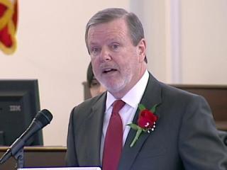 Senate President Pro Tem Phil Berger speaks during the opening day of the 2013 legislative session on Jan. 9, 2013.