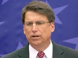 Gov. Pat McCrory delivers his inaugural address outside the State Capitol on Jan. 12, 2013.