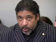 North Carolina NAACP President Rev. William Barber speaks to reporters on Feb. 1, 2013.