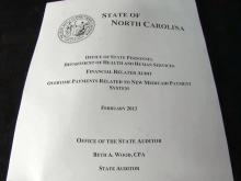 Second audit scrutinizes NC Medicaid program