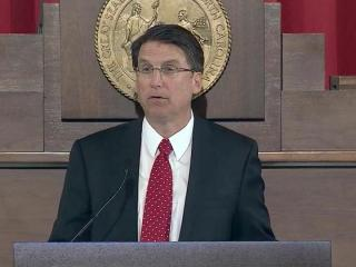 Gov. Pat McCrory delivers his first State of the State address on Feb. 18, 2013.