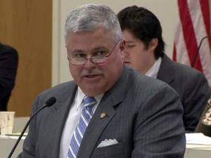 Sen. Tom Apodaca, R-Henderson, criticizes a House version of a Senate bill overhauling several state boards and commissions during a Feb. 27, 2013, House Commerce Committee meeting.