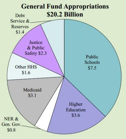State spending from the General Fund, 2012-2013.