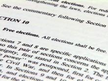 N.C. constitution on free elections