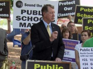 Former Congressman Bob Etheridge said during a May 10, 2013, rally that Republican-led efforts to reform North Carolina schools will only hurt students and teachers.