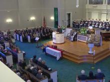 Gov. Jim Holshouser funeral