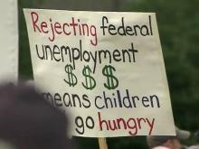 Protesters decry long-term jobless benefits cutoff