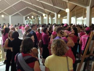 Abortion-rights supporters pack the Legislative Building on July 3, 2013, to oppose a Senate vote on a series of abortion restrictions in North Carolina.
