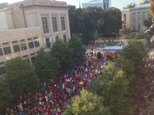 Photos from the 13th and final Moral Monday rally outside the state Legislative Building.