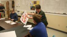 Art class at Southern Wake Academy
