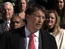 Governor Pat McCrory talks about teacher pay, Nov. 14, 2013.