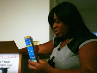 Bianca Williams, mother of two, has spent months waiting for food stamp benefits from Wake County.