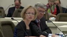 Aldona Wos speaks to DHHS oversight committee