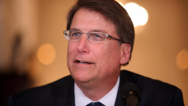 Gov. Pat McCrory holds a news conference at the Governor's Mansion on Jan. 21, 2014.