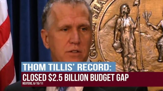 A still from the American Crossroads commercial backing Thom Tillis in the 2014 U.S. Senate primary.