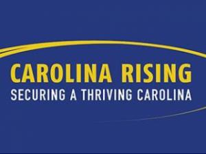 Logo of Carolina Rising, NC's latest conservative independent spending group.