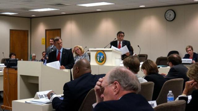 Members of the Senate Finance Committee debate an omnibus tax package on May 27, 2014.
