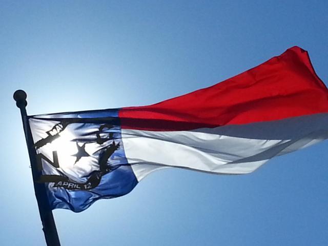NC Flag, Legislative Building, Raleigh<br/>Photographer: Bill Herrero