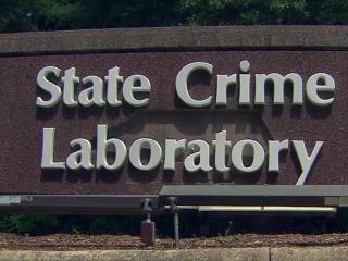State Crime Lab sign