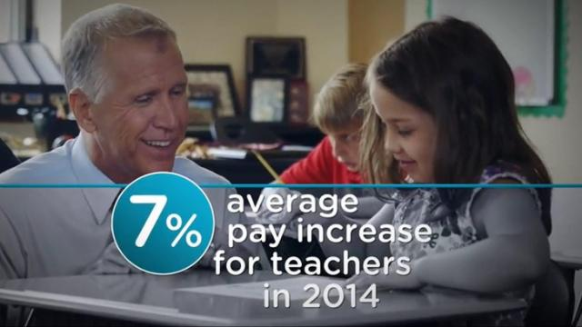 "This is a still image from Thom Tillis' ""Math"" campaign ad."