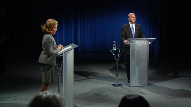 Hagan, Tillis engage in first debate