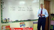 Tillis 7 percent at the whiteboard