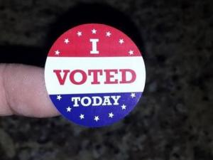 Voters in NC shared their stickers on Election Day 2014