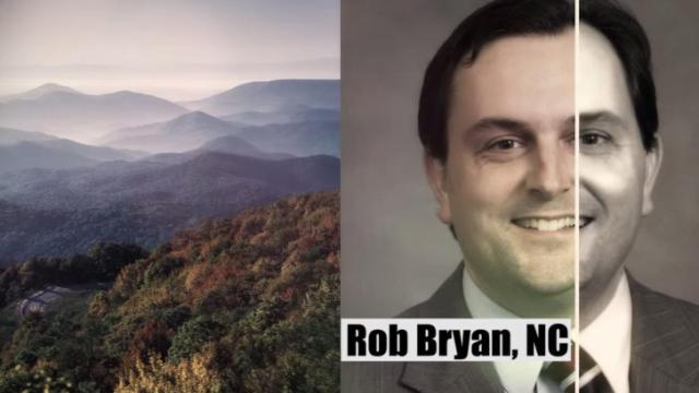 This is a still image from a campaign ad for Rob Bryan aired by the NCHLP Education Fund.