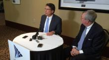Gov. Pat McCrory speaks to reporters on Jan. 5, 2015