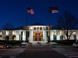 This is the N.C. Legislative Building as seen on Feb. 2, 2015 at 6 p.m.