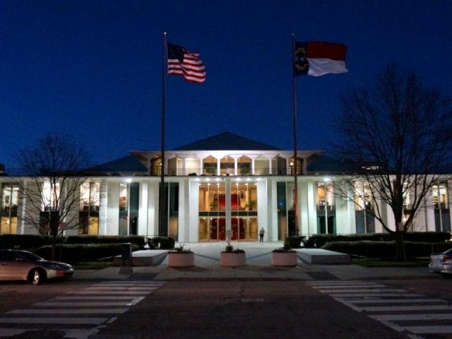 This is the N.C. Legislative Building as seen on Feb. 2, 2015 at 6 p.m.  <br/>Reporter: Mark Binker