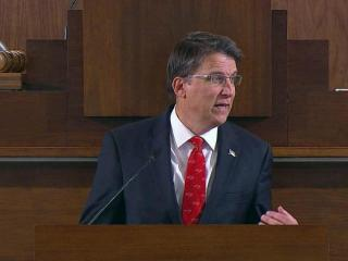 Gov. Pat McCrory delivers his State of the State address on Feb. 4, 2015.