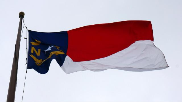 North Carolina flag on Feb. 17, 2015.