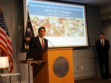Gov. Pat McCrory introduces his state budget for 2015-16