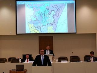 Sen. Chad Barefoot talks about his plan to redraw Wake County's commissioner district.