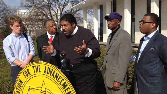 State NAACP President William Barber speaks at NC Legislature, March 11, 2015