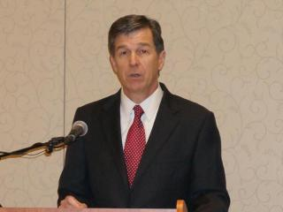 North Carolina Attorney General Roy Cooper speaks at the 2015 Sunshine Day event in Durham.
