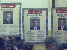 Legislative protesters call for higher wages