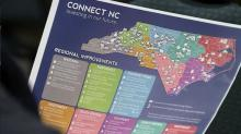Connect NC map, highway bonds, infrastructure bonds