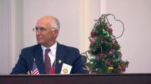 Christmas tree in Senate