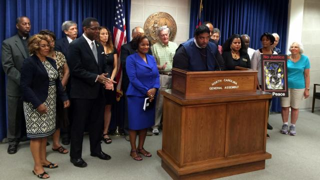 The Rev. William Barber speaks during a news conference on Aug. 18, 2015, during which he announced the N.C. NAACP would participate in a march form Selma to Washington, D.C. in order to push for Congress to revive parts of the Voting Rights Act.