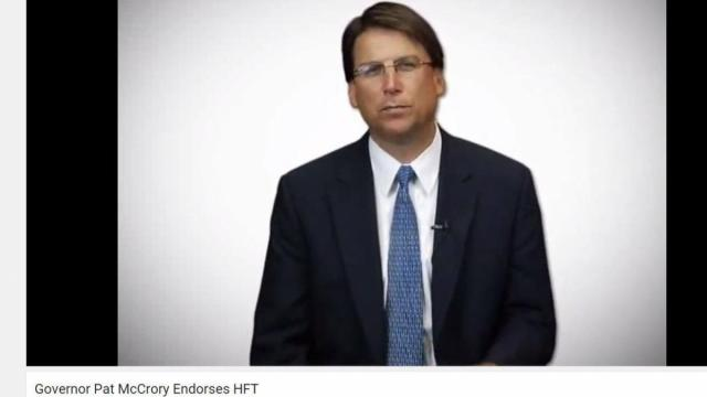 Gov. Pat McCrory appears in a YouTube video that uses his official title to endorse a private fundraising firm.