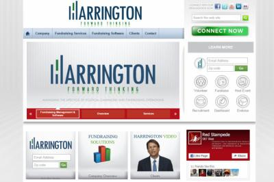 Harrington HFT's website front page, captured on Sept. 3, 2015, shows Gov. McCrory's image.