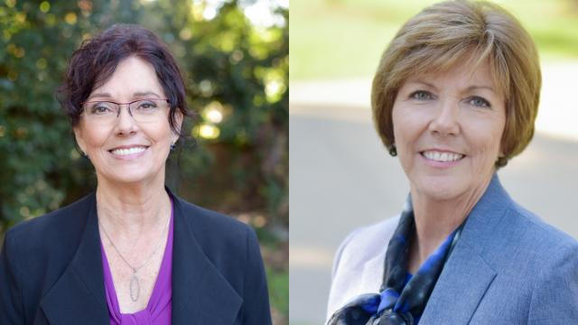 Democratic legislative challengers Cynthia Ball, left, and Susan Evans, right.