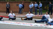 Six arrested after protesting new NC immigration law