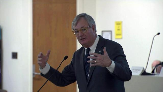 Commerce Secretary John Skvarla speaks to a legislative oversight panel on Feb. 4, 2016.